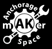 Hack a robot at the Anchorage Makerspace logo